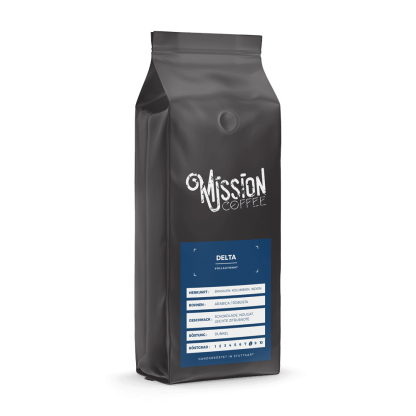 mission coffee kaffee delta arabica, robusta