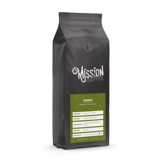 mission coffee kaffee sorte romeo arabica, robusta
